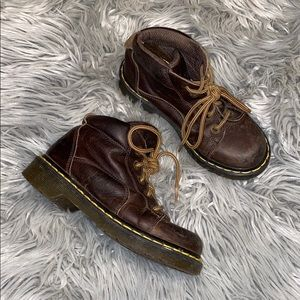 Dr marten brown leather boots m 3 w 4